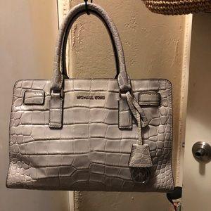 Grey Leather Michael Kors